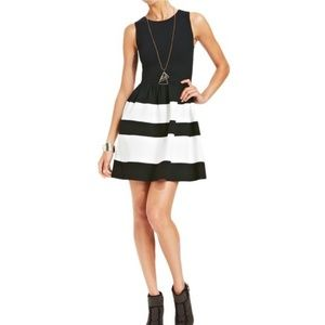 Worn once. Black and white dress
